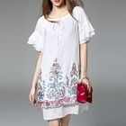 Embroidered Frill Sleeve Dress 1596