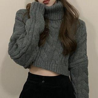 Turtleneck Sweater / Harem Pants