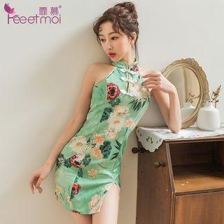 Green | Dress | Print | Mini | Size | One