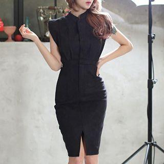 Slit Sleeveless Dress 1050103217