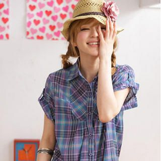 Picture of 2kilo Plaid shirt 1022776543 (2kilo Apparel, Womens Blouses, Taiwan Apparel, Taiwan Blouses)