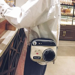 Chain Strap Camera Shaped Crossbody Bag
