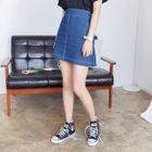 High-Waist Denim A-Line Skirt от YesStyle.com INT
