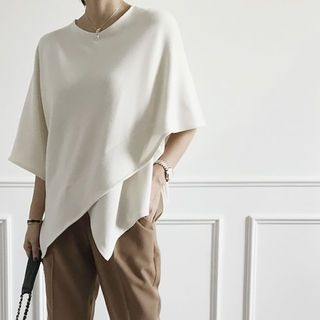 Wrapped Poncho Top 1062060655