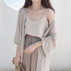 Long Cardigan / Camisole / Long Skirt 1596