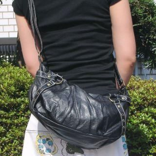 Anello Belted Hobo Bag Black One Size