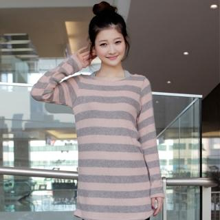 Picture of CLICK Striped Sweater Dress 1022069332 (CLICK Dresses, Womens Dresses, South Korea Dresses, Sweater Dresses)