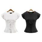 Short-Sleeve Tie Waist T-Shirt 1596