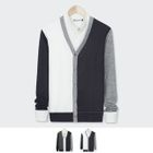 V-Neck Buttoned Color-Block Cardigan 1596