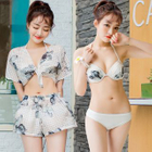 Set: Floral Bikini + Top + Shorts 1596