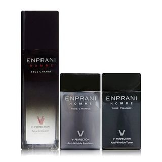 ENPRANI - Homme V-Perfection Set: Total Activator 50ml + Anti-Wrinkle Toner 40ml + Anti-Wrinkle Emulsion 40ml 3pcs 1034785602
