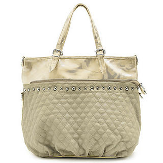 Buy Gossip Girl Studded Quilted Handbag Apricot – One Size 1022944975