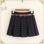 Check Pleated Skirt 1596