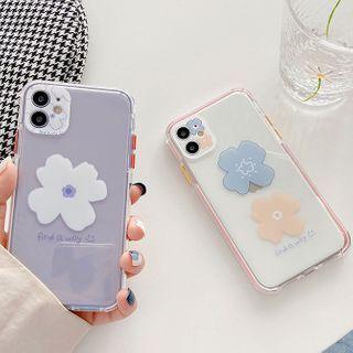 Image of Floral Print Transparent Phone Case - iPhone 11 Pro Max / 11 Pro / 11 / SE / XS Max / XS / XR / X / SE 2 / 8 / 8 Plus / 7 / 7 Plus / 6s