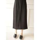 Band-Waist Long Knit Skirt 1596