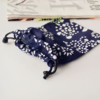 Drawstring | Sapphire | Print | Blue | Size | One