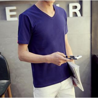 V-neck Short-Sleeve T-shirt 1049760223