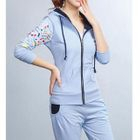 Sports Set : Printed Hooded Jacket + Sweatpants Powder Blue - XL от YesStyle.com INT