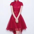 Bow-Accent Mini Prom Dress 1596