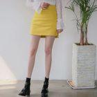 Dip-Back A-Line Mini Skirt 1596