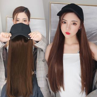 Image of Straight / Curly Long Full Wig / Wig Cap / Wig Care Tool Kit / Set