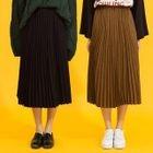 Accordion Pleat Midi Skirt 1596