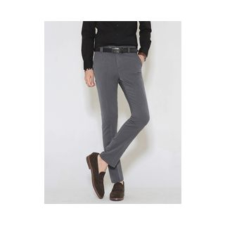 Flat-Front Slim-Fit Pants