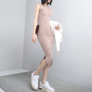 Sleeveless Ribbed Midi Dress 1059489918