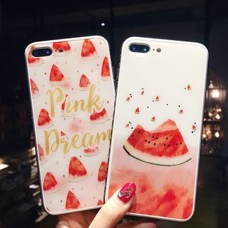 Watermelon Print Phone Case - iPhone 6 / 6 Plus / 7 / 7 Plus / 8 / 8 Plus / X 1066918968