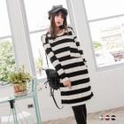 Stripe Long-Sleeve Dress 1596