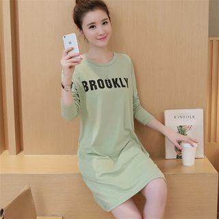 Letter Long-Sleeve Dress