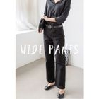 Wide-Leg Cotton Pants 1596