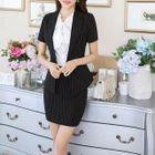Striped Blazer / Pencil Skirt 1596