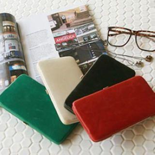 Faux Leather Long Wallet