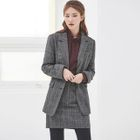 Checked Pencil Skirt 1596