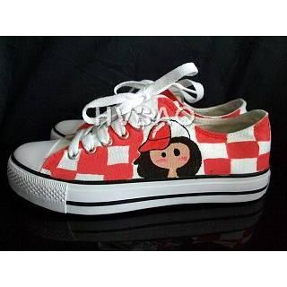 Buy HVBAO Girl and Checkboard Pattern Sneakers 1011786268