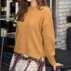 Round-Neck Ribbed Sweater 1596