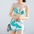 Set: Printed Top + Bikini Top + Swim Shorts 1596