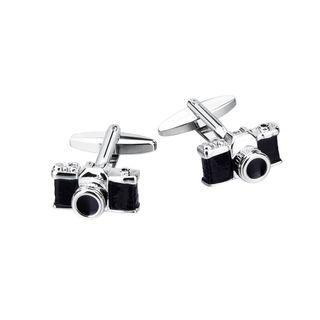 Cufflink   Camera   Silver   Black   Size   One