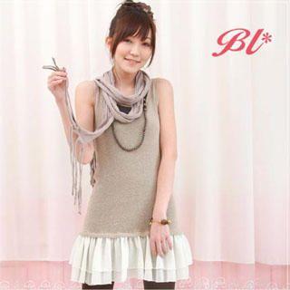 Buy Barbie Baigel Tank Top Overlay Ruffled Dress 1019873077