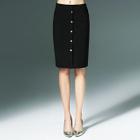 Buttoned Pencil Skirt 1596