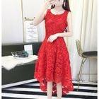 Sleeveless Applique Cocktail Dress 1596