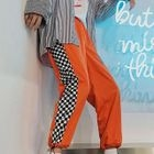 Checked Cropped Pants 1596