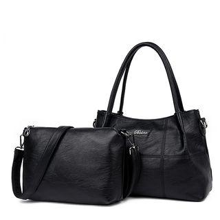 Set: Faux Leather Handbag + Shoulder Bag 1065753973