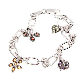 Image For World of Insect Semi-Precious Studded Bracelet
