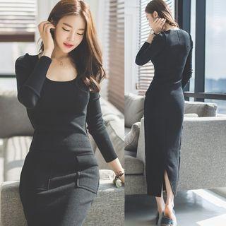 Rib Knit Maxi Dress 1053962386