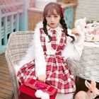 Plaid Long-Sleeve Dress 1596