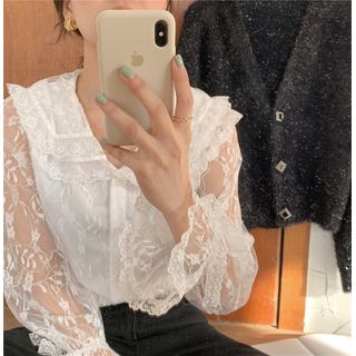 Image of Long-Sleeve Top / Cardigan