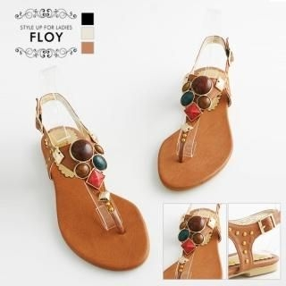 Buy FLOY SHOES Rhinestone Thong Sandals 1023054400