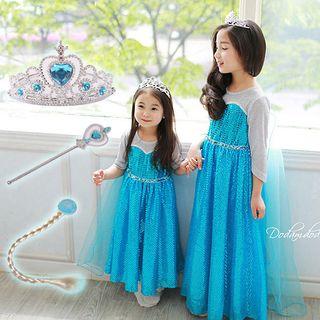 Kids Frozen Elsa Cosplay Dress Costume